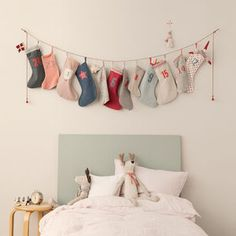 Christmas Stocking / Sock Advent Calendar - natural scandi christmas decorations