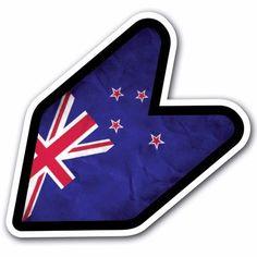 Grunge New Zealand - JDM Wakaba Leaf Flag Decal Sticker Car Macbook Shoshinsha #CUSTOMI