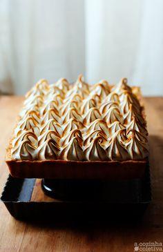 Passionfruit meringue tart.