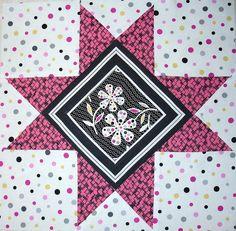 SUMMER STAR SAMPLER QA 2010 - BLOCK 12 by Happy 2 Sew, via Flickr