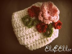 """Diaper cover tutorial FREE  I love the """"corsage"""".  I think it would look incredible on a hat or headband.  Or hey, as a brooch!"""