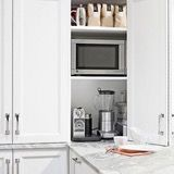 Coffee makers, mixers, toasters — they can be quite lovely appliances, but in addition to everything else on your counter, they take up a lot of physical and visual space