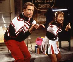 SNL Cheerleaders. I think Jim finds my reenactment, of these guys, more funny than the kids do. :)