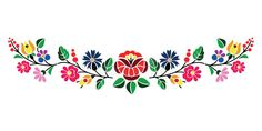 Photo about A beautiful hungarian Kalocsai floral pattern. Illustration of vector, petals, isolated - 33430355