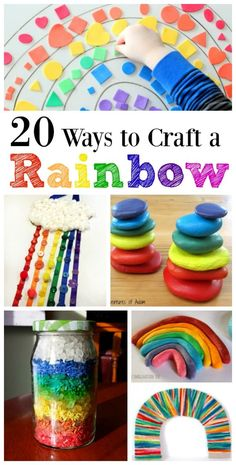 20 easy DIY rainbow crafts for toddlers, preschoolers and elementary kids -- perfect for Spring & St. Activities to learn colors Enjoy these 20 easy DIY rainbow crafts for kids -- perfect for Spring & St.