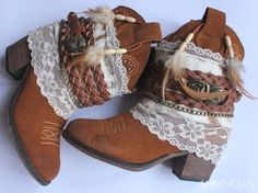 DIY Crafts You Can Make with Lace | Cool DIY Ideas for Fashion, Decor, Gifts, Jewelry and Home Accessories Made With Lace | Bohemian Boots | http://diyjoy.com/diy-crafts-ideas-with-lace