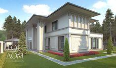 Готовый проект дома в стиле арт-деко