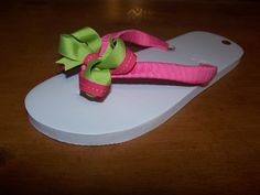 345e905b38f Ribbon bow flip flops Purchase a pair of inexpensive plain flop flops in a  color you