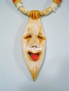 This is one of my many Laughing Tiki necklaces,