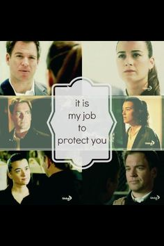 It is my job to protect you. - Ziva & Tony // NCIS = Tiva/....I never like Tony as much as when he was working with Ziva. Their chemistry worked!