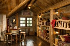 Rustic wooden cabin style. 20 Cool Bunk Beds That Offer Us The Gift Of Style