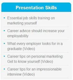 make sure your presentations are flawless graduate coach has some great tips on presentation skills for graduates - Planning A Second Career Strategy Career Planning Tips