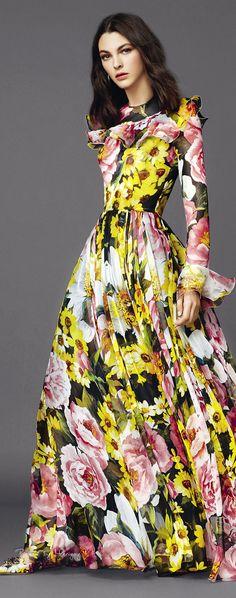 Love this maxi dress pattern ♔Dolce & Gabbana.2015♔