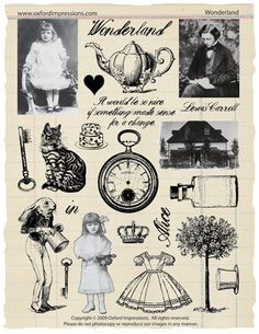 Wonderland Rubber Stamp Collection Alice