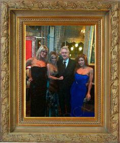 """Attending the """"Night in Monaco"""" celebrity-filled gala at the Casino in Monte Carlo, Bill Clinton made eye contact on a few occasions with the two ladies flanking him in this picture: Tasha Reign, 23, and Brooklyn Lee, 22.    Source: DCXposed (http://s.tt/1dmy1)"""