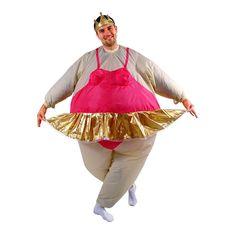 Inflatable Ballerina Costume - Adult, Women's, Grey