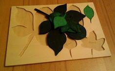 Blätter Puzzle, Leaf Puzzle, Montessori, Herbst, autumn
