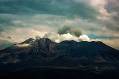 Sakurajima at sunset by Nachosan, via Flickr