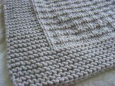 Un petit plaid tout doux pour Bébé-Loup - Knitting And Crocheting