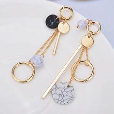 1 Pair Elegant Women Tassel Rhinestone Ear Stud Fashion Earrings Chain Jewelry | eBay