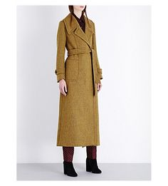 DRIES VAN NOTEN Buttoned-cuff wool-blend coat. #driesvannoten #cloth #coats & jackets