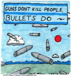 GUNS DON'T KILL PEOPLE, BULLETS DO ~ NAPKIN DAD