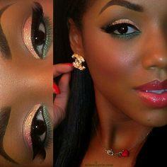 15 Ideas Wedding Makeup For Black Women Brown Skin Pink Lips Makeup On Fleek, Flawless Makeup, Gorgeous Makeup, Love Makeup, Makeup Tips, Makeup Looks, Hair Makeup, Edgy Makeup, Beauty Makeup