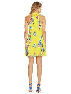 Floral-Print Silk A-Line Dress - Polo Ralph Lauren Short Dresses - RalphLauren.com
