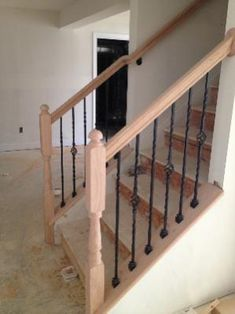 Railing Idea For Bottom Of Stairs
