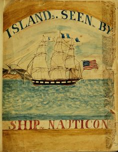 Online collection of Nantucket Ship Logs featuring hand drawn and written accounts of whaling voyages.