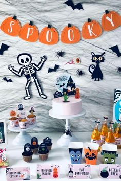 Don't miss this spooky Halloween party! The party decorations are so much fun! See more party ideas and share yours at CatchMyParty.com #catchmyparty #partyideas #halloween #halloweenparty