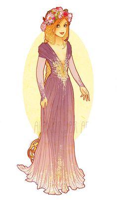 Art Nouveau Rapunzel by Hannah Alexander.