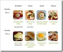 FREE healthy meal plans for kids and menu ideas