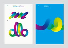 Lovely flowing, colourful, contemporary branding from Bibliothèque.