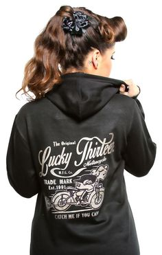 Lucky 13 Catch Me If You Can Women's Graphic Hoodie Sweatshirt #Lucky13 #Hoodie