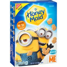 Minion Graham Crackers and the even have Cheese Nips too! This would be a REALLY cute snack for a Despicable Me Party!