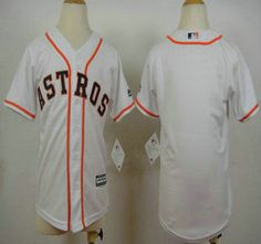 youth houston astros jersey blank home white 2015 mlb cool base jerseys