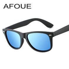 be8c5b9276e0 #SUNGLASSES #NEW AFOUE Classic Sunglasses Men Polarized Driving Mirrors  Coating Points Black Frame Eyewear