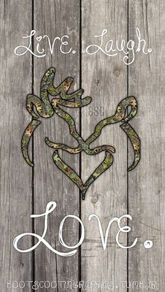 Live laugh love buck and doe heart Camo Wallpaper, Wallpaper Backgrounds, Camouflage Wallpaper, Phone Backgrounds, Disney Wallpaper, Iphone Wallpapers, Cute N Country, Country Girls, Country Life