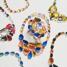 New collection Pietre by Corsidesign is growing up, the gergoeus colors of new necklaces #corsidesign #corsidesignfactory #jewelry #collier #corsisoftjewelry