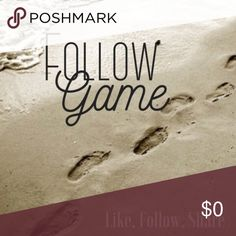 Follow Game Follow Game: Like this listing, follow others who like this listing, share with your PPF (and followers).  Happy Poshing ❤️💛💚💙💜 Other