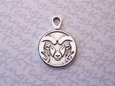 Colorado State University Rams Silver Plated Pewter Logo Pendant Charm. $3.99, via Etsy.