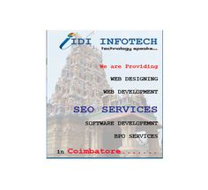 IDI Infotech is a best SEO Company, providers of Best and Cheap Search Engine Optimization - SEO Packages at Affordable SEO Price Packages to clients across all business sectors Coimbatore. Seo Packages, Best Seo Company, Best Web Design, Coimbatore, Good And Cheap, Seo Services, Search Engine Optimization, Software, Business