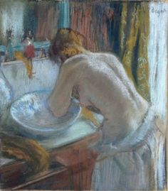 Edgar Degas 'La Toilet' pastel on paper