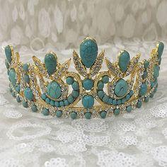 Aliexpress.com: Compre Taiwan genuíno sa. Dominador lindo barroco azul coroa tiara de noiva coroa feminino de confiança coroa borboleta fornecedores em Walking in Beauty(Min order $15)