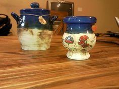 "Cerámica artesanal ""Geo"" Sugar Bowl, Bowl Set, Color Azul, Food And Drink, Lily, Pottery, Simple, Home Decor, Templates"