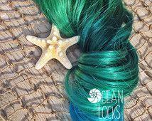 Underlights, Peekaboo Highlights, Pastel Hair, Ombre Hair Extensions, Green Hair, Teal Hair, Blue Hair, Clip In Hair Extensions