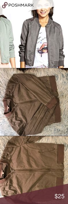 Rubbish Twill Bomber Super cute barely used twill bomber jacket size large Rubbish Jackets & Coats