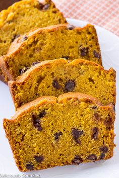 Pumpkin Chocolate Chip Pumpkin Bread