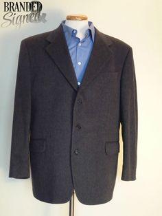 LORO PIANA 100% CASHMERE Suit JACKET 44 Regular 3 buttons BLACK Manzoni LNWOT Cashmere Suit, Office Wear, Dress To Impress, Online Price, The 100, Suit Jacket, Buttons, Blazer, Best Deals